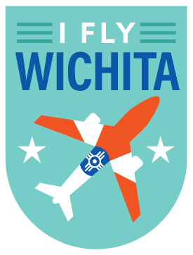I Fly Wichita Badge